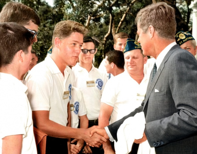 Bill Clinton, John F. Kennedy
