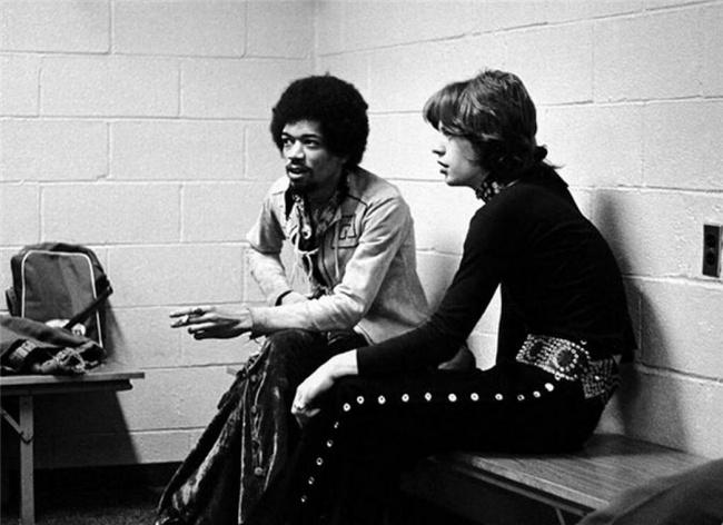 Jimi Hendrix & Mick Jagger