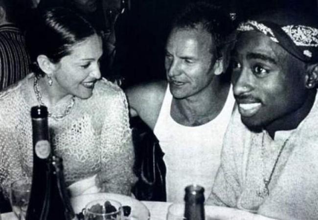 Madona, Sting, 2Pac