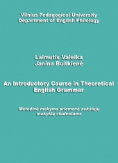 An Introductory Course in Theoretical English Grammar